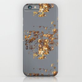 Bronze on Gray Square #abstract #society6 #decor #geometry iPhone Case
