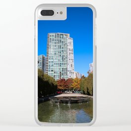 trees to breathe in the city Clear iPhone Case
