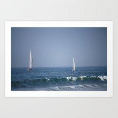 Sailing the Pacific Art Print