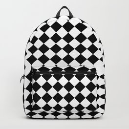 VERY SMALL BLACK AND WHITE HARLEQUIN DIAMOND PATTERN Backpack