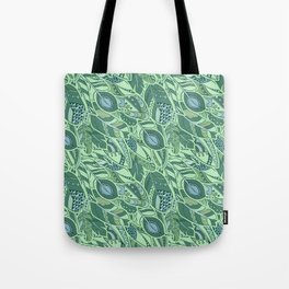 Marine Feather Pattern Ornament Tote Bag