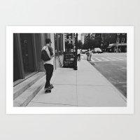 New York City // Skateboarding in Chelsea No.2 Art Print