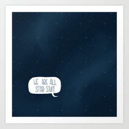 Star Stuff (Science Fiction Wrapping Paper No. 2) Art Print