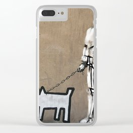 Haring dog, Banksy and clone Clear iPhone Case