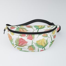 Single Rose Buds Watercolor Illustration Fanny Pack