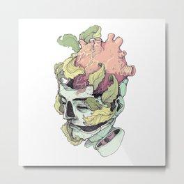 heart on the brain Metal Print
