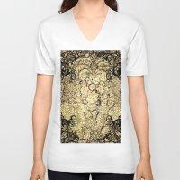 decorative V-neck T-shirts featuring Decorative pattern by nicky2342