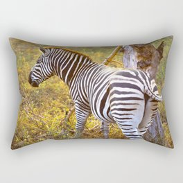 Zebra Sway Rectangular Pillow
