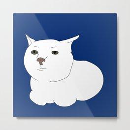 Meh cat Metal Print