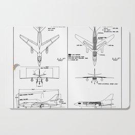 Douglas A-3B Skywarrior Schematic Cutting Board