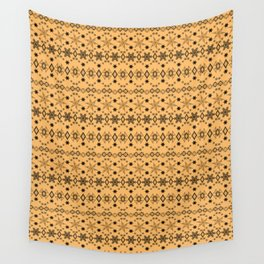 Yellow black Christmas ornament Wall Tapestry