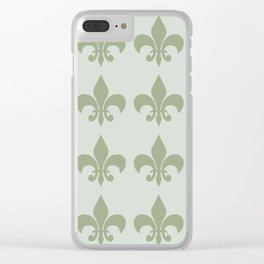 Classy Elegant Pattern Clear iPhone Case