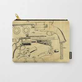 Revolver Support Patent Drawing From 1856 Carry-All Pouch
