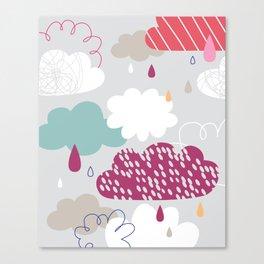 Rain and clouds Canvas Print
