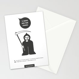 'A morte nun tene crianza Stationery Cards