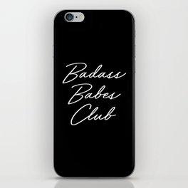 Badass Babes Club 1 iPhone Skin