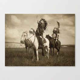 Sepia Toned Indian Photo Canvas Print