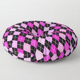 Pink Lavender Black Argyle Floor Pillow