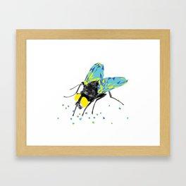 Geosafari | Fly (White) Framed Art Print
