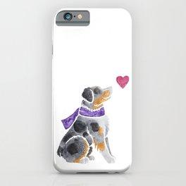 Watercolour Australian Shepherd (merle) iPhone Case