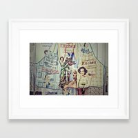 cooking Framed Art Prints featuring COOKING by Gabriella Vaghini