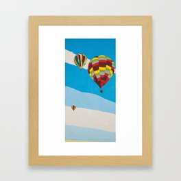Three Hot Air Balloons Framed Art Print