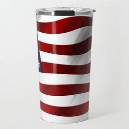 American Flag USA Travel Mug