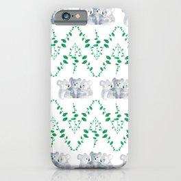 Koalas in Eucalyptus iPhone Case