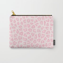 Girly blush pink white abstract animal print Carry-All Pouch