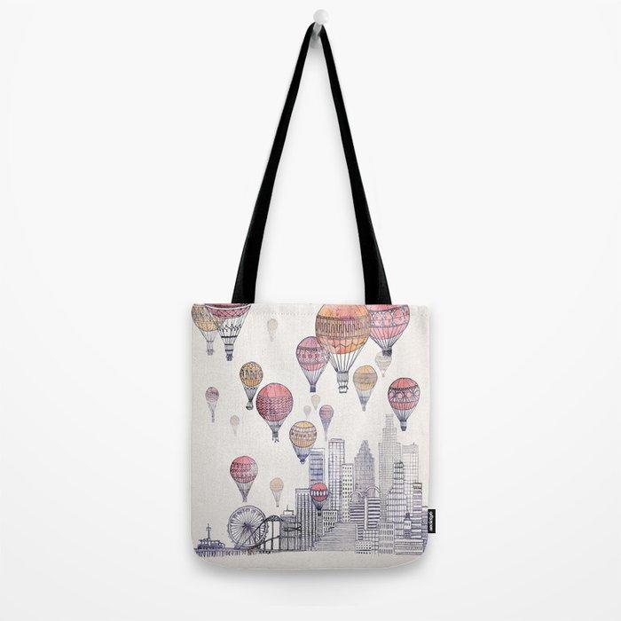 Voyages Over Santa Monica Tote Bag