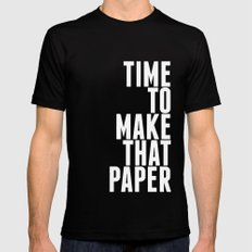 Make That Paper MEDIUM Mens Fitted Tee Black