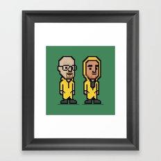 8-Bit: Breaking Bad Framed Art Print
