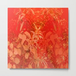 Beautiful red foliages - illustration of garden Metal Print