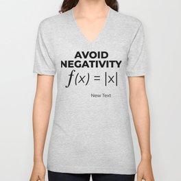 Avoid Negativity - Calculus Unisex V-Neck