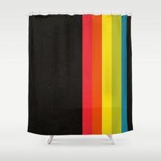 Retro Camera Color Palette Shower Curtain