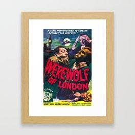 Werewolf of London, vintage horror movie poster Framed Art Print