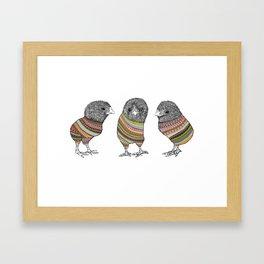 Baby chicken knit Framed Art Print