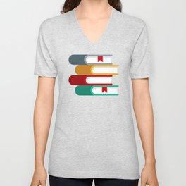 Stack of Books Unisex V-Neck