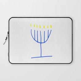 blue menorah,Hanukkah,jewish,jew,judaism,Festival ofLights,feast of Dedication,jerusalem,lampstand Laptop Sleeve
