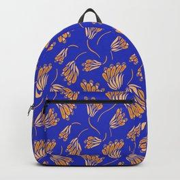 Electric blue flower pattern Backpack