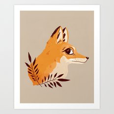 Fox Familiar Art Print