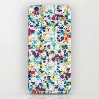 splatter iPhone & iPod Skins featuring Splatter by Regan McDonell Design