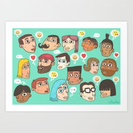 emoji talk Art Print