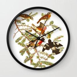 Rose-breasted Grosbeak Bird Wall Clock