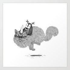 Catcorn Art Print