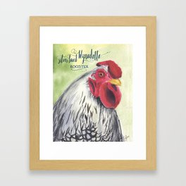 Silver Laced Wyandotte Rooster Framed Art Print