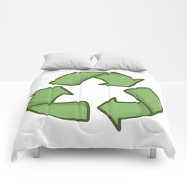 Recycle Symbol Comforters