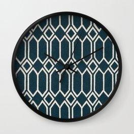 Geometrics in Blue and White Diamonds Wall Clock