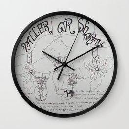 Taller or shorter Wall Clock