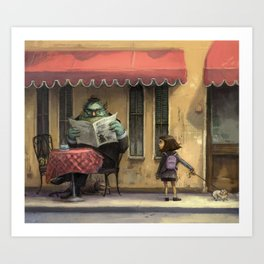 Monster Cafe Art Print